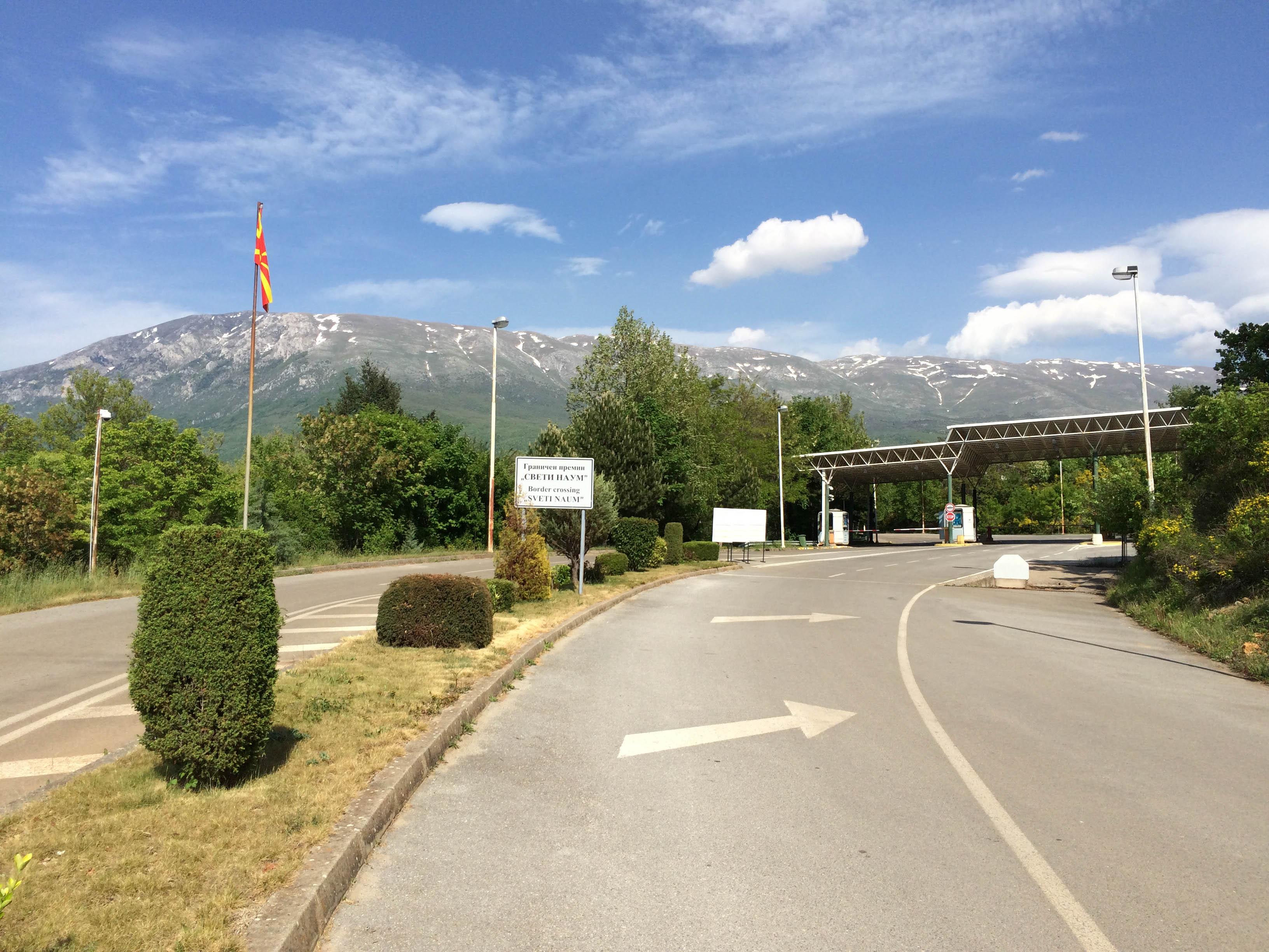 从阿尔巴尼亚进入马其顿