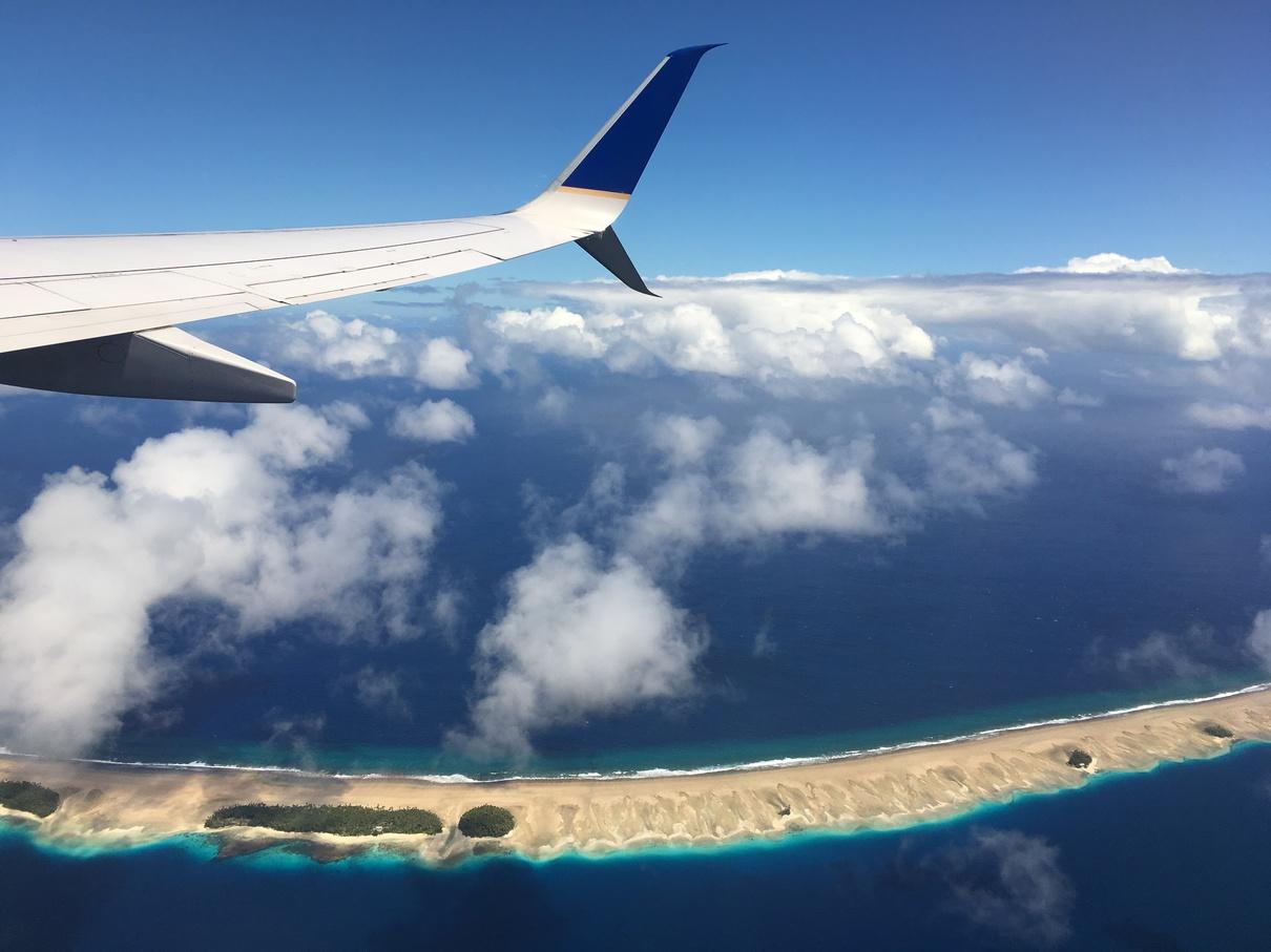 俯瞰馬朱羅環礁