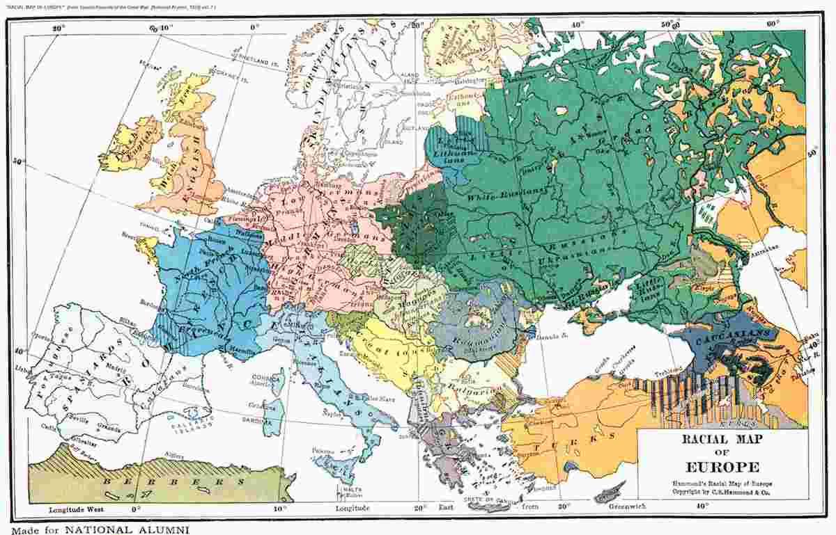 1923年歐洲民族圖譜