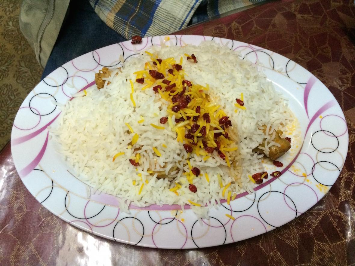 藏红花鸡肉米饭