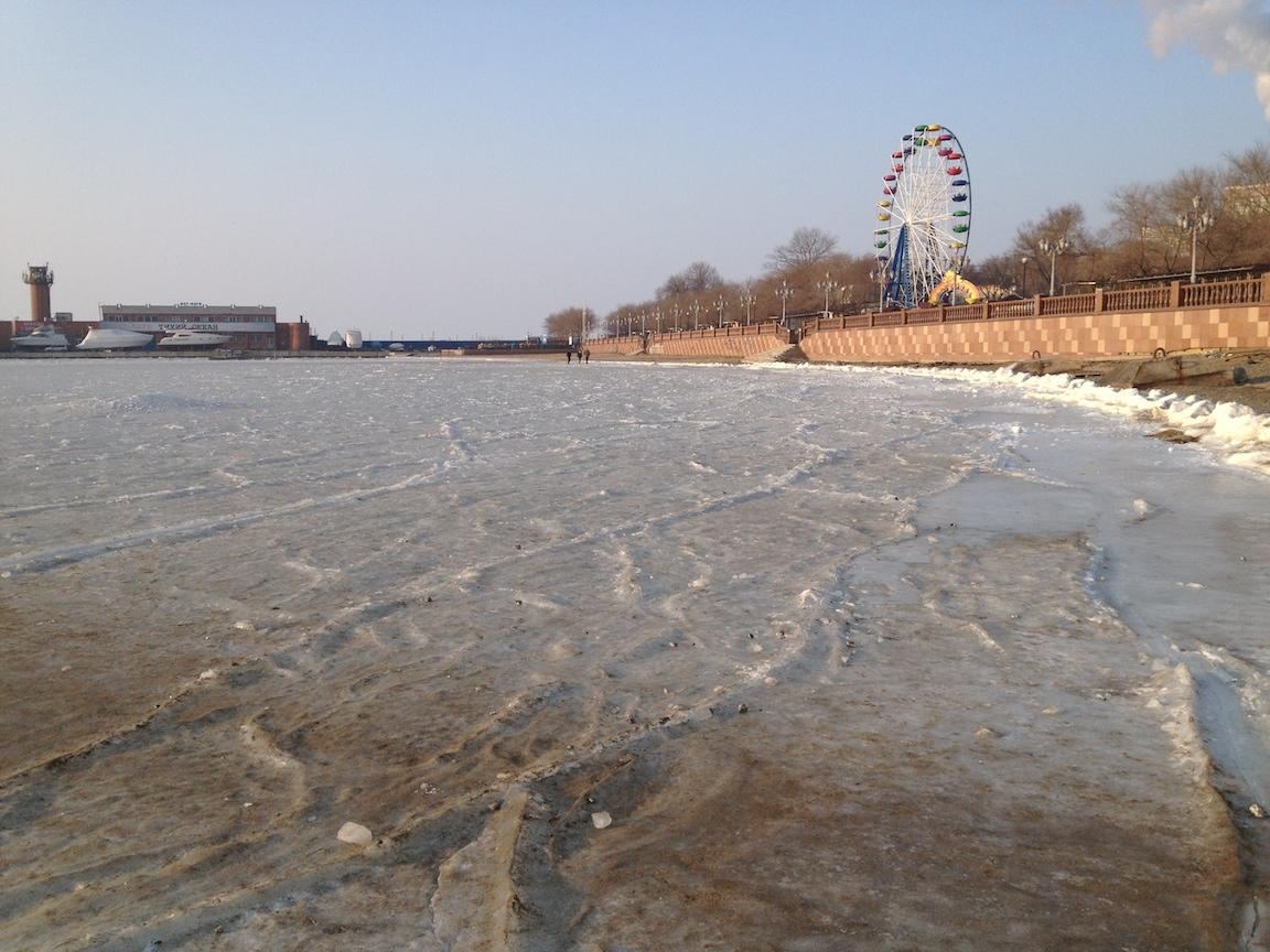 结冰的海面